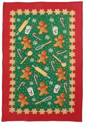 Asciugapiatti - tea towel cotone biscotti di natale Gingerbread man