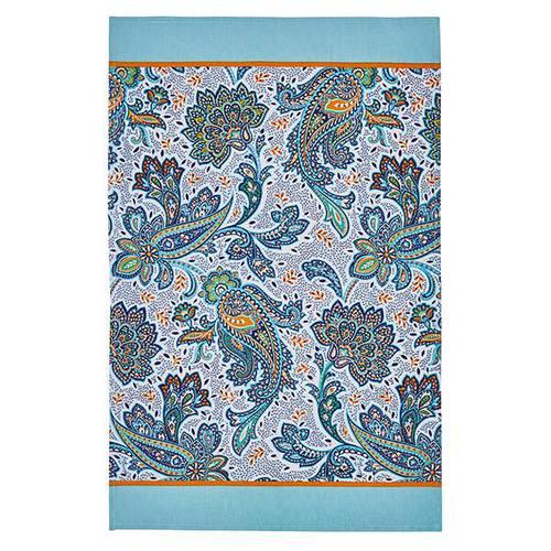 Asciugapiatti - tea towel cotone fiori italian paisley