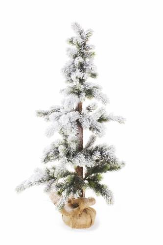 Albero pino imbiancato con iuta h 95