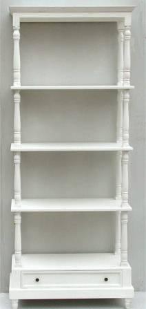 Libreria tornita 5 piani c/cassetto