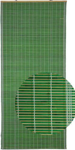 Tenda bambù verde avvolgibile