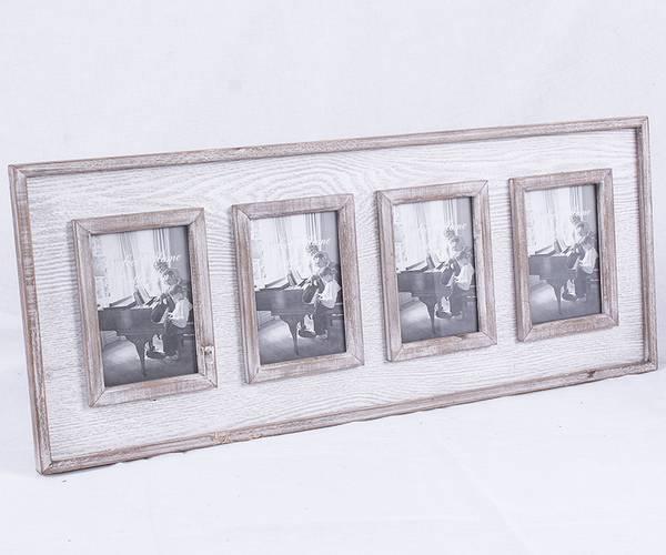 Portafoto grigio da parete 4 foto