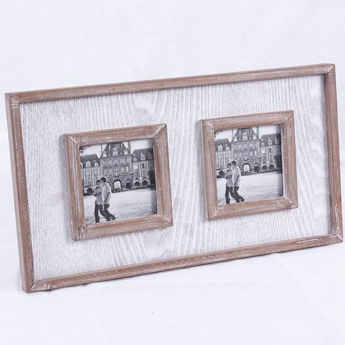 Portafoto grigio da parete 2 foto