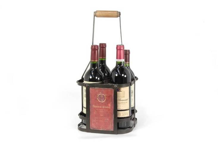 Porta bottiglie nero 4 posti