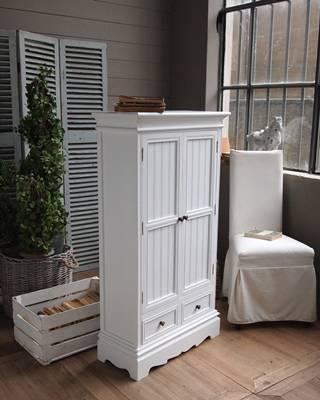 Armadietto legno bianco impero