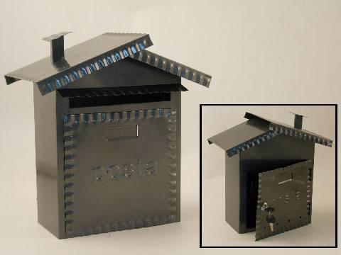 Cassetta posta metallo zincato con chiave