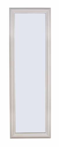 Specchio bianco cornice legno liscia 42x132
