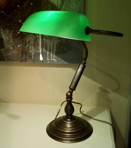 Lampada biblioteca verde