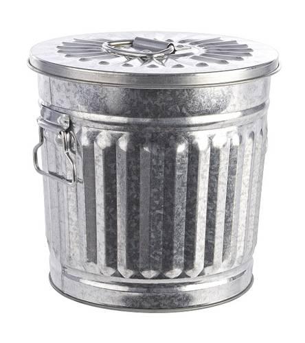 Bidone metallo zincato 7L