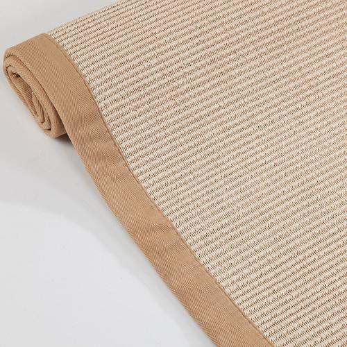Tappeto intreccio naturale con borso cotone 120x180