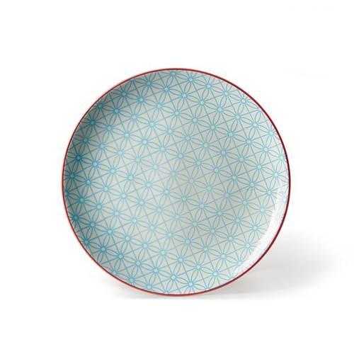 Piatto dessert fiore azzurro collezione Althea