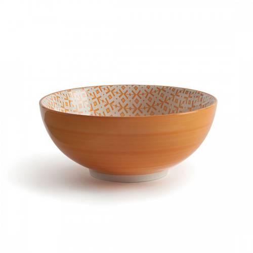 Ciotola puntocroce arancio collezione Althea