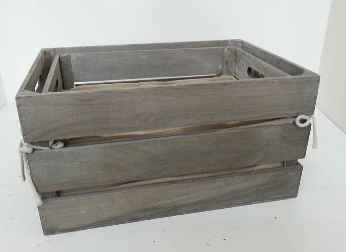 Cassetta legno grigio con fodera