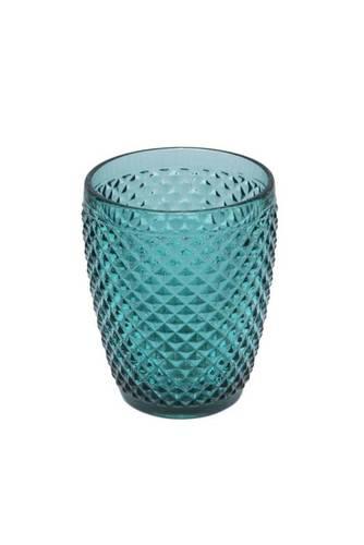 Bicchiere acqua puntinato vetro smeraldo 4 pz