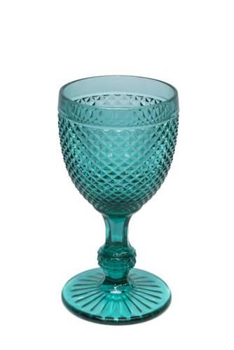 Bicchiere calice puntinato smeraldo vetro 4 pz