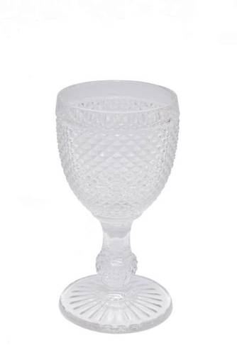 Bicchiere calice puntinato trasparente vetro 4 pz