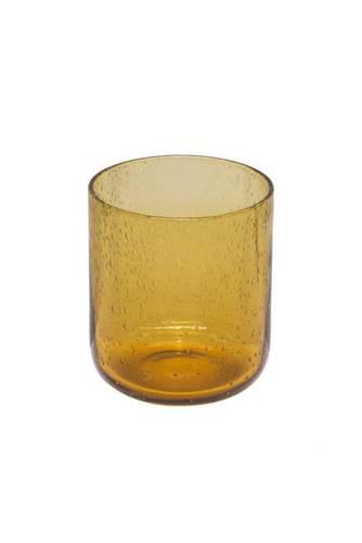 Bicchiere bollicine ambra vetro 6 pz