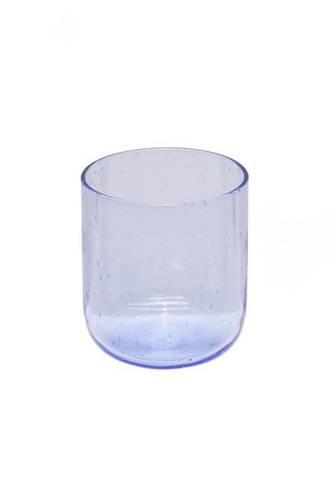 Bicchiere bollicine azzurro vetro 6 pz