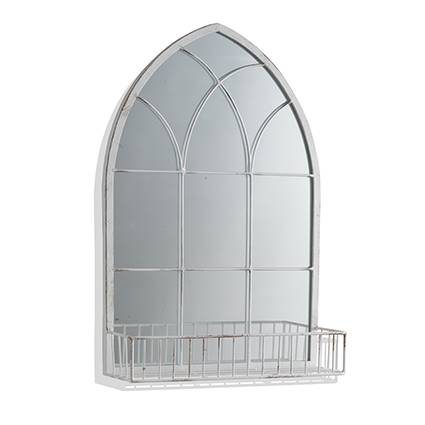 Specchio a cupola con mensola