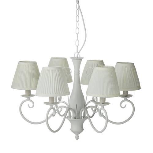 Lampadario ferro con paralumi 6 luci