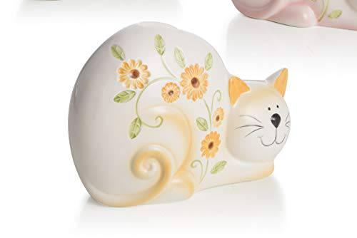 Umidificatore gatto fiori gialli ceramica