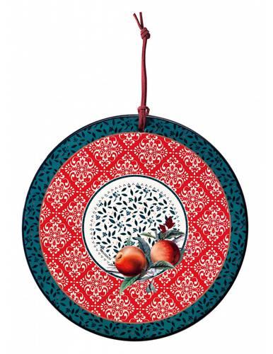 Sottopentola ceramica tonda Cantico frutta