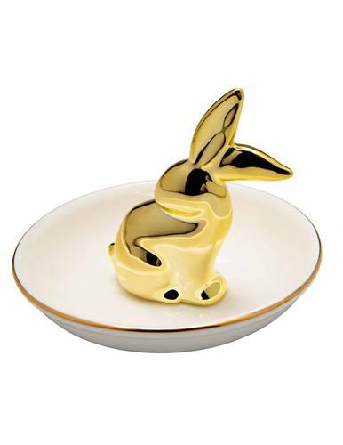 Porta anelli animali gold ceramica