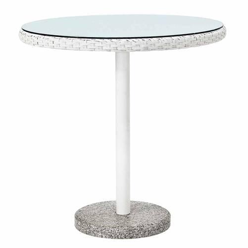 Tavolo tondo bar poly bianco