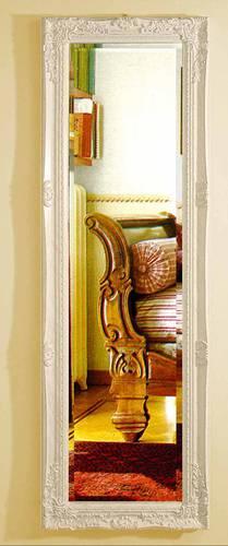 Specchio barocco legno bianco 42x132