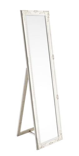Specchio barocco legno bianco con piede 40x160