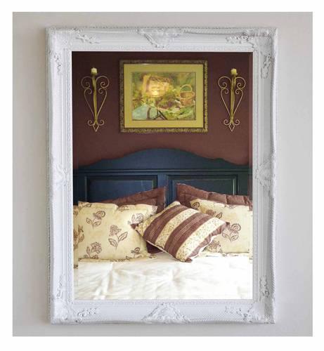 Specchio barocco legno bianco  90x120