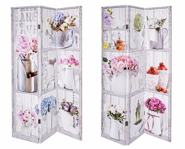 Separè vasi di fiori 3 ante