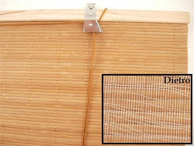 Tenda bambu' piatto tessuto avvolgibile