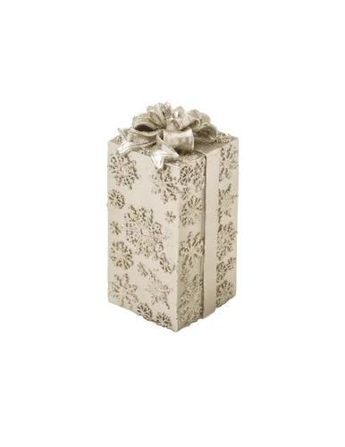 Candela natalizia pacchetto regalo oro fiocco 16,5h