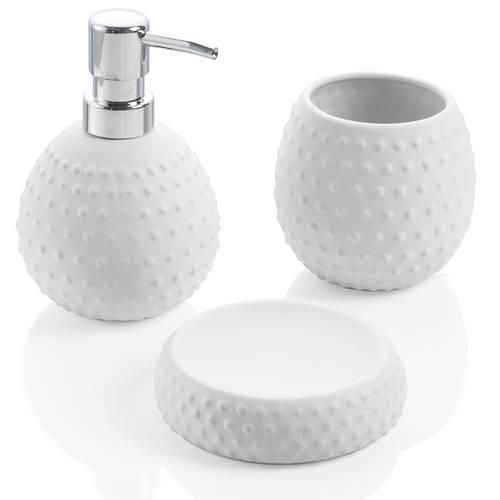 Accessori Bagno In Ceramica Bianca.Gelsomini