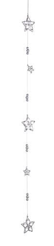 Addobbo catena natalizia stelle argento 80h