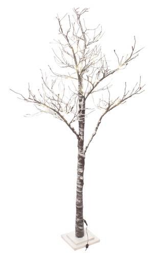 Albero natale rami innevati con luci led 210h