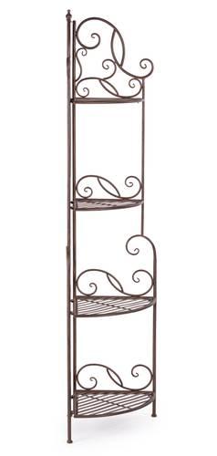 Angoliera ferro marrone 4 piani 164h