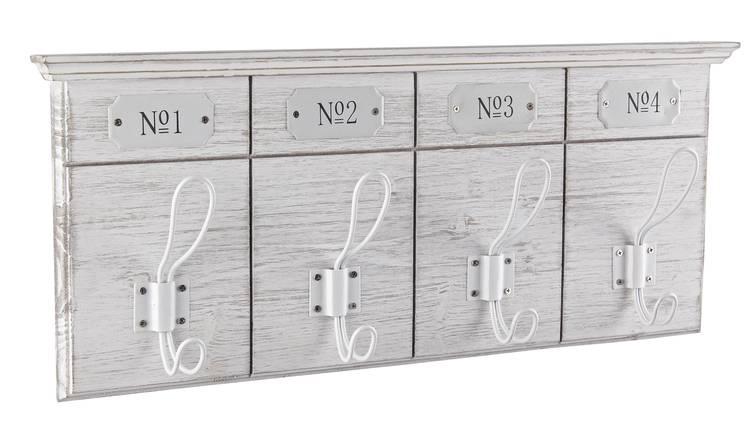 Appendiabiti legno bianco Numero1-4