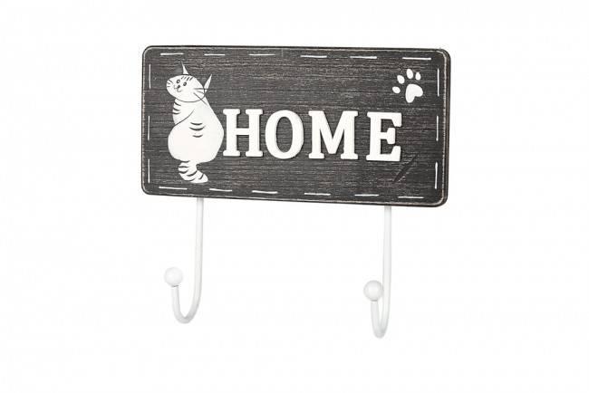 Appendiabiti legno gatto Home 2 ganci