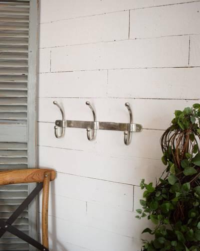 Appendiabiti parete alluminio cromato 3 posti doppi