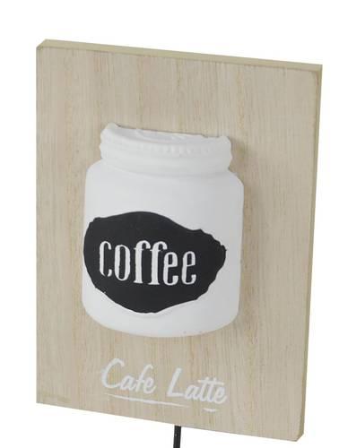 Appendiabiti parete legno naturale Coffee 1 gancio