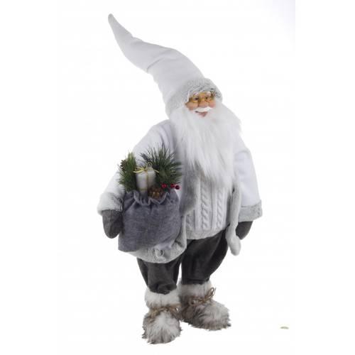 Babbo natale bianco con sacco grigio 90h