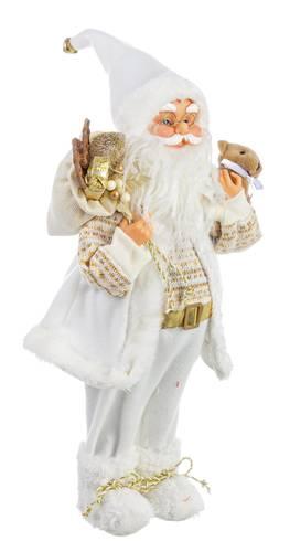 Babbo natale bianco e oro con orsetto 45h