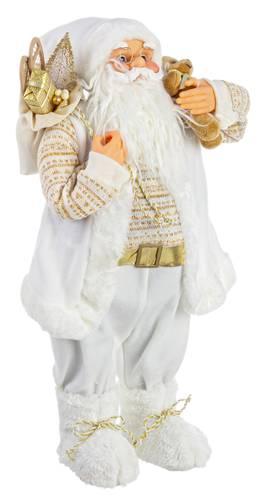 Babbo natale bianco e oro con orsetto 60h