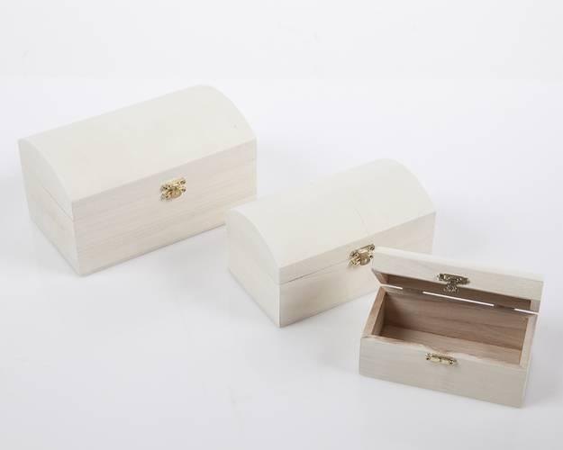 Bauletto piccolo legno grezzo