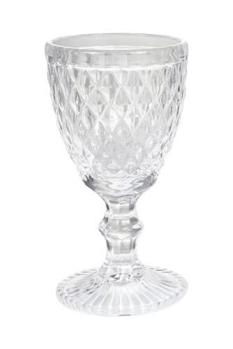Bicchiere calice rombi trasparente vetro 6pz