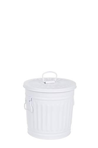 Bidone metallo bianco opaco 7L