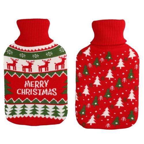 Borsa acqua calda con maglione rosso natalizio