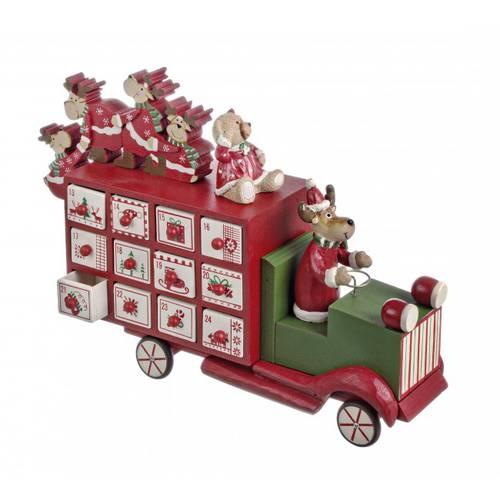 Camioncino calendario dell'avvento con renne